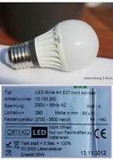LED Warmweiss Birnen Lampe E 27