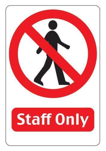staff only sign | ebay