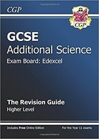New GCSE Additional Science Edexcel revision guide Higher For the Grade A*-G Course