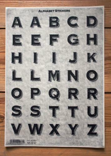 large letter stickers large letter stickers ebay 22687