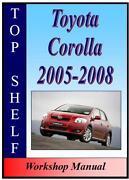 Toyota Corolla Workshop Manual