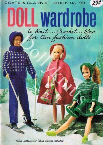 Barbie Doll Knitting Patterns Ebay