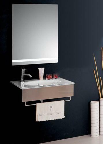 modern glass bathroom vanity