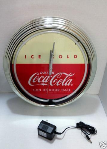Coca Cola Neon Clock Ebay