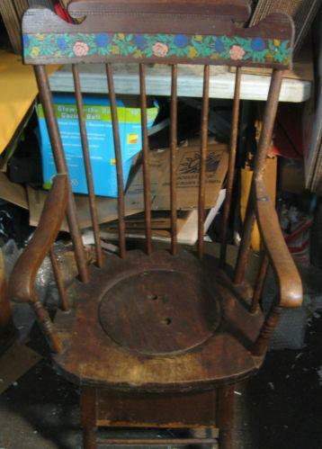 Antique Commode Chair Ebay