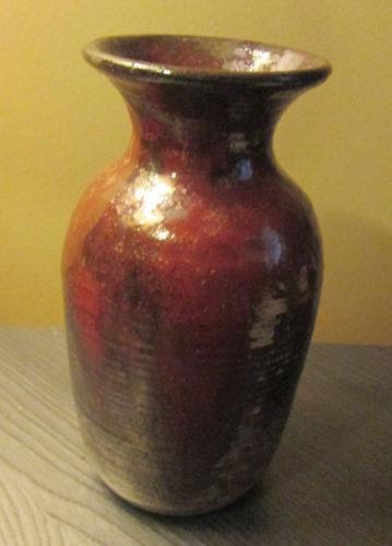 Raku Vase Studio Handcrafted Pottery Ebay