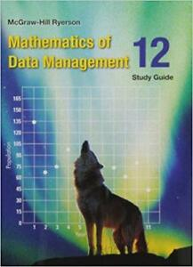 Mathematics of Data Management 12 Study Guide- Brand New