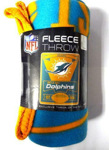Miami Dolphins Blanket FootballNFL EBay Adorable Miami Dolphins Plush Fleece Throw Blanket