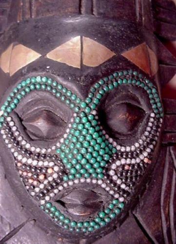 African Beaded Mask Ebay
