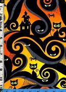Halloween Cat Fabric
