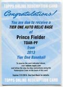 Prince Fielder Auto