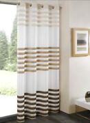 Mocha Eyelet Curtains