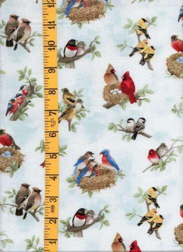 Blue Bird Fabric Ebay