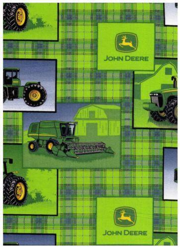 John Deere Plaid Fabric Ebay