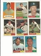 1961 Topps Baseball Card Lots