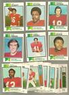 1973 Topps Football Card Complete Set