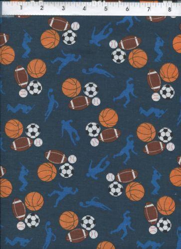 Sports Themed Fabric Ebay