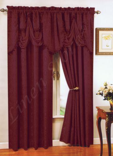 Burgundy Gold Curtains Ebay