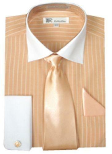 Dress shirts with cufflinks ebay for Mens shirts with cufflinks