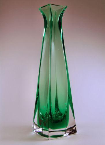 Tall Green Glass Vase Ebay