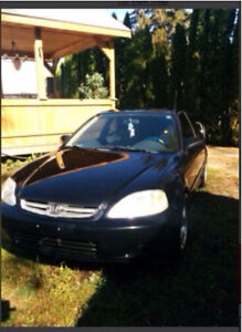 1999 Honda civic hatchback car  for parts or fix it up London Ontario image 1