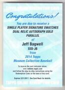 Jeff Bagwell Autograph