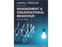 Management and Organisational Behaviour Laurie J. Mullins 11 ed 26.2.2016 ISBN-10: 1292088486
