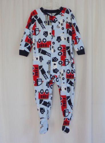 Boys Footed Pajamas Ebay