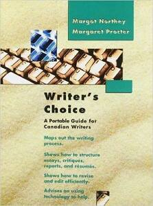 Writer's Choice: A Portable Guide for Canadian Writers book