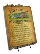 Ten Commandments Plaque