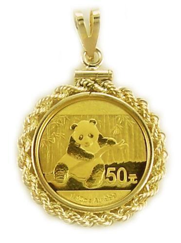 diamond panda coin ring