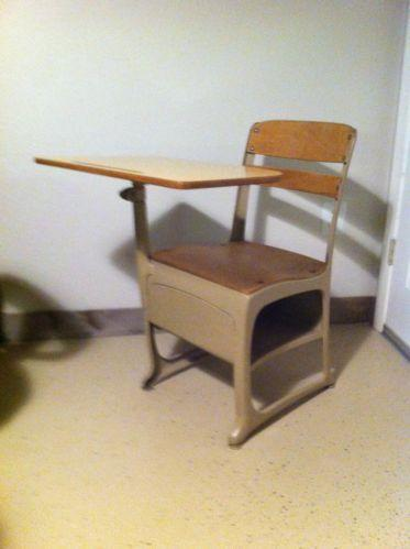 Antique School Desk Rh Com Old Wooden With Inkwell