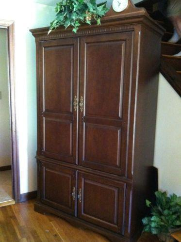 Entertainment armoire ebay for Entertainment armoire
