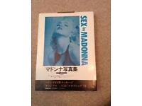 Madonna Sex Book Japanese Edition Mint Sealed. Very Rare