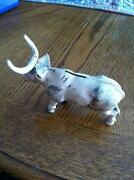 Cast Iron Bull Bank