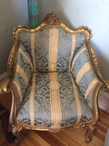French Provincial Chair >> Antique Upholstered Chair | eBay