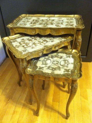 Gold Nesting Tables Ebay