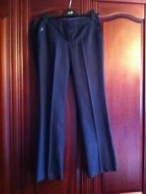 NAVY BLUE STRIPED TROUSERS FROM NEW LOOK Size 12 (EU40)
