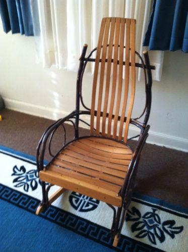 Wooden Rocking Chairs wood rocking chair | ebay