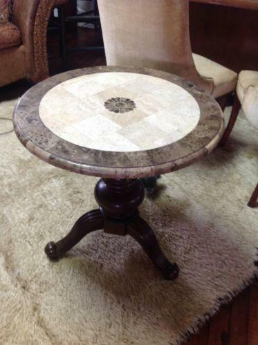 round marble table top ebay. Black Bedroom Furniture Sets. Home Design Ideas