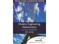Modern Engineering Mathematics by Glyn James (fourth edition)