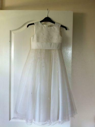 c3451ffe0 Girls Ivory Bridesmaid Dress