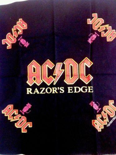 VINTAGE AC/DC RAZORS EDGE BANDANA 1990 True Vintage Rare New Mint Brockum