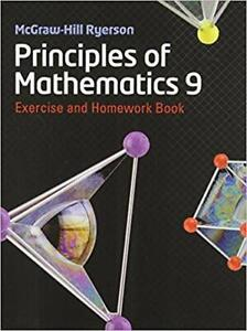 Principles of Mathematics 9 Workbook   SHIPPING AVAILABLE