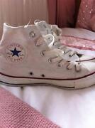White High Top Converse Size 5