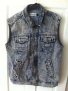 Mens Sleeveless Denim Jacket