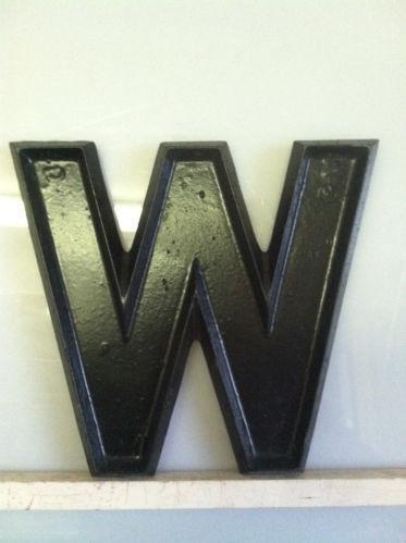 Metal Letter W Home Decor Ebay