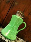 Antique Green Glass Pitcher