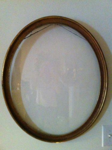 Large Antique Oval Picture Frame Ebay