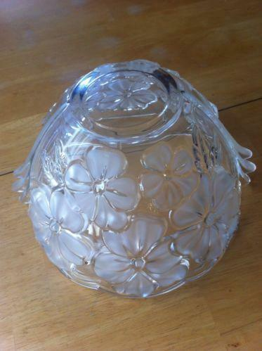 Crystal Flower Bowl Ebay